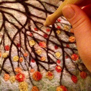 Autumn landscape felting workshop