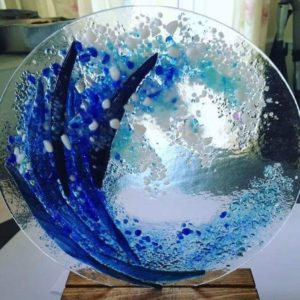 Wave glass fusion workshop