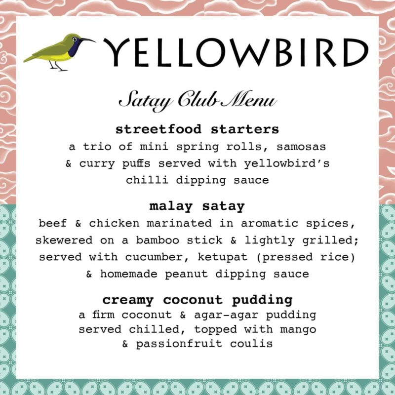 Yellowbird menu
