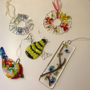 Mixed glass fusion workshop image