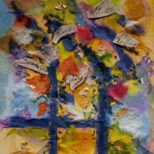 Autumn collage art class